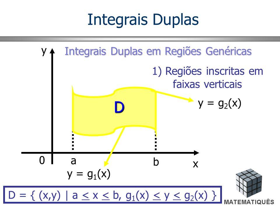 Integrais Duplas D y Integrais Duplas em Regiões Genéricas
