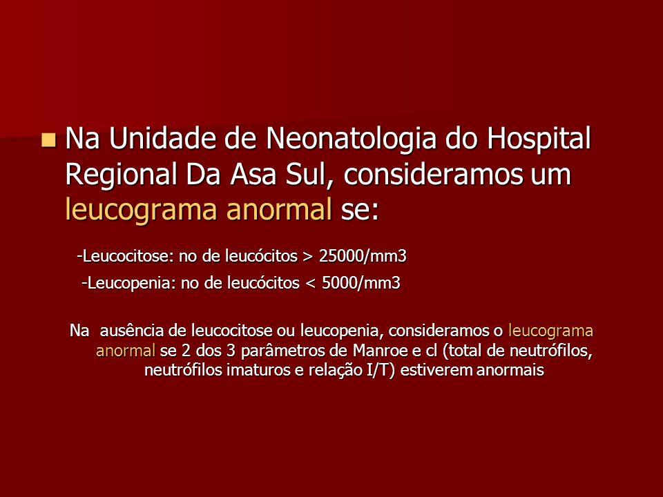 -Leucocitose: no de leucócitos > 25000/mm3