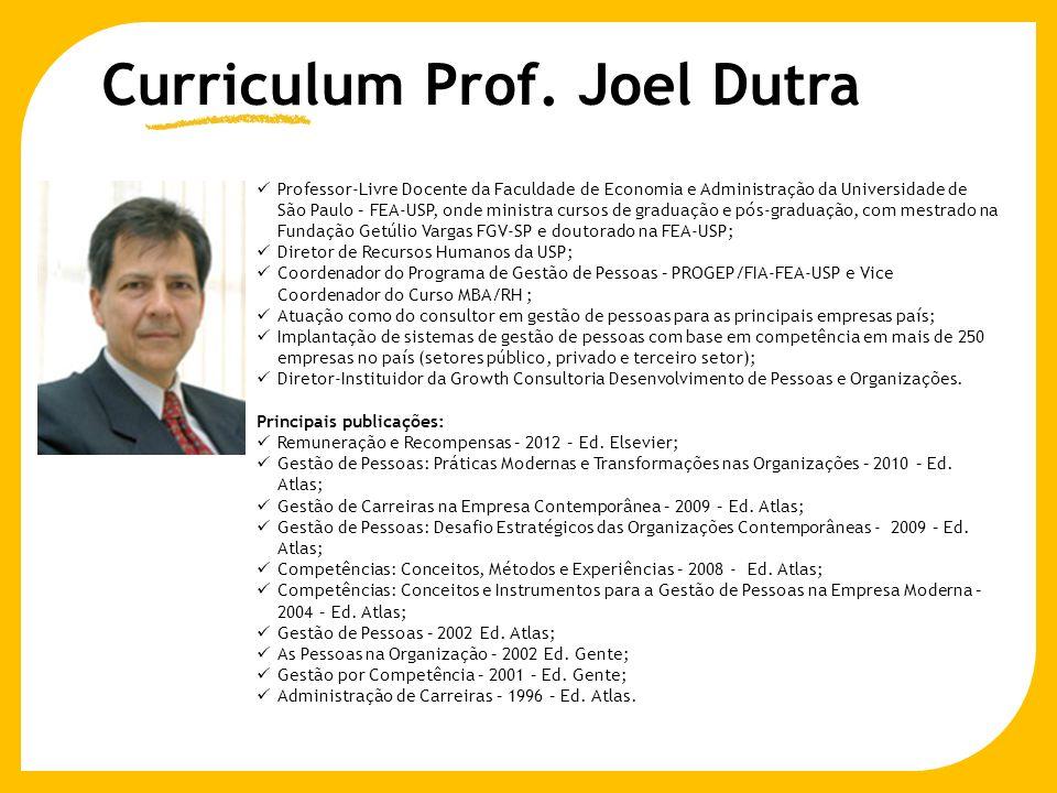 Curriculum Prof. Joel Dutra