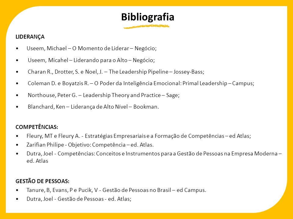Bibliografia LIDERANÇA