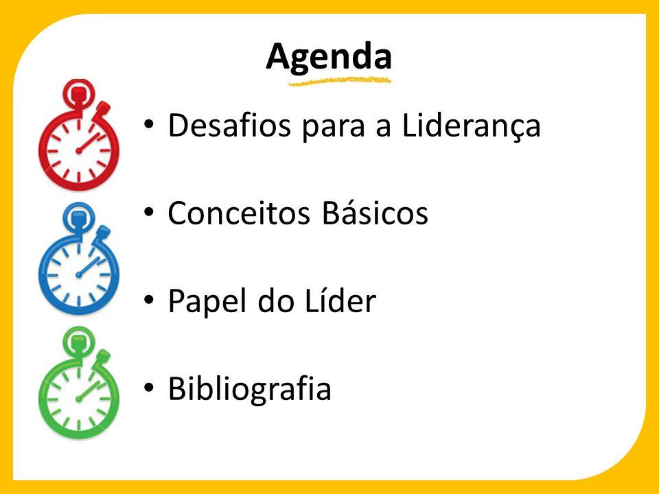 Agenda Desafios para a Liderança Conceitos Básicos Papel do Líder