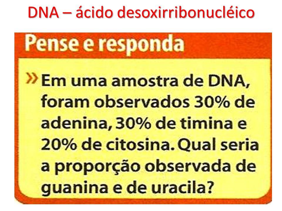 DNA – ácido desoxirribonucléico
