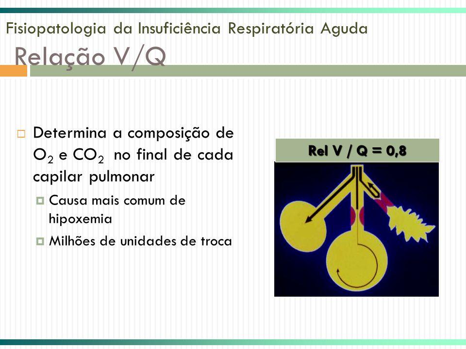 Fisiopatologia da Insuficiência Respiratória Aguda Relação V/Q