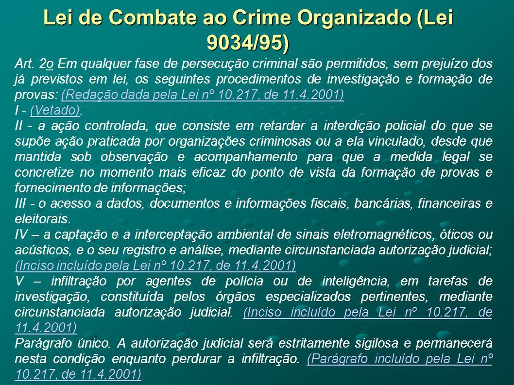Lei de Combate ao Crime Organizado (Lei 9034/95)