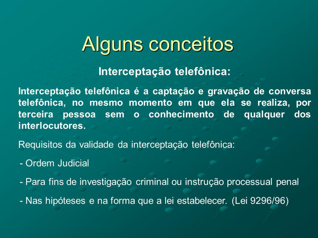 Interceptação telefônica: