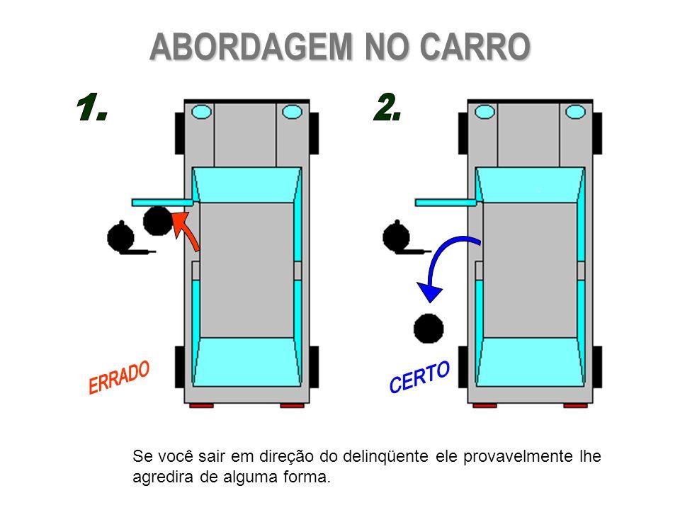 ABORDAGEM NO CARRO 1. 2. ERRADO. CERTO.