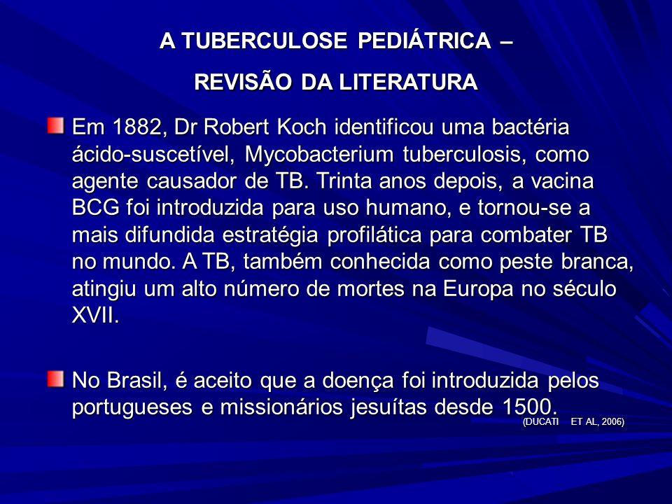 A TUBERCULOSE PEDIÁTRICA – REVISÃO DA LITERATURA
