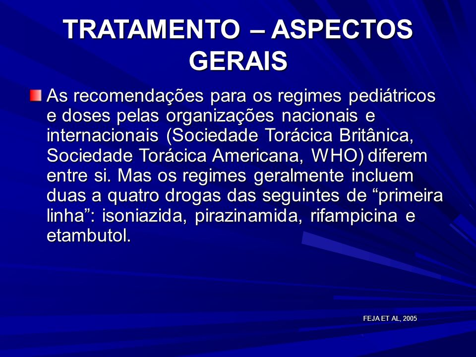 TRATAMENTO – ASPECTOS GERAIS