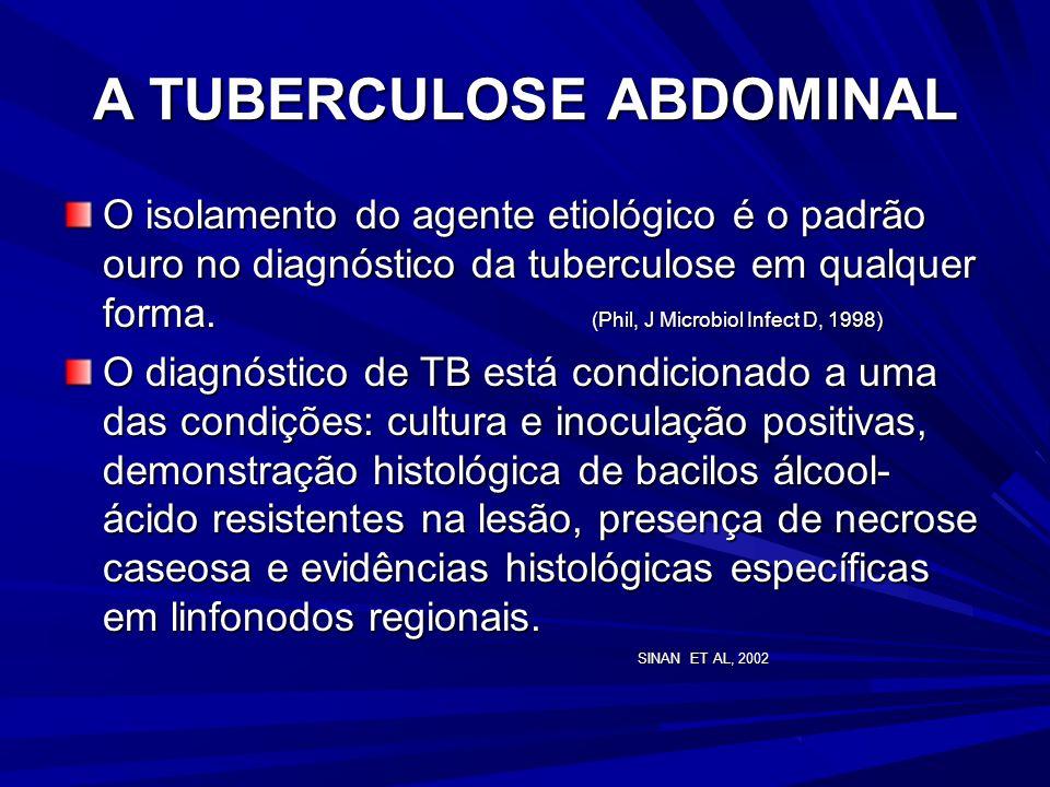 A TUBERCULOSE ABDOMINAL