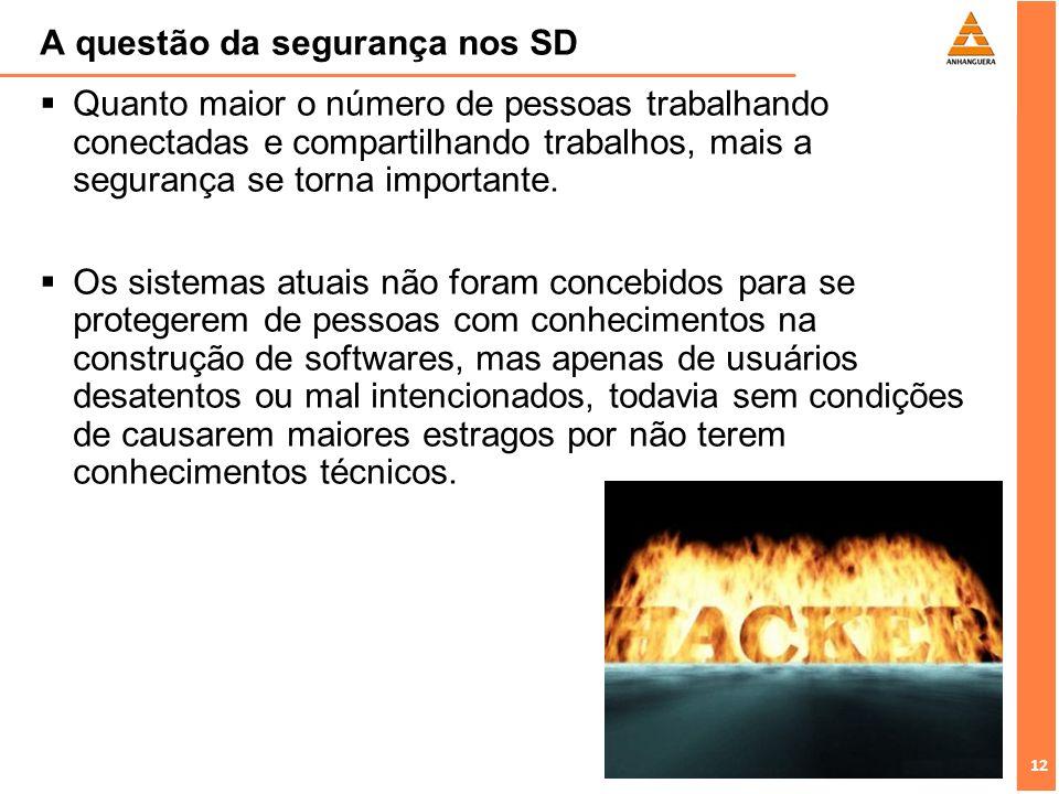 A questão da segurança nos SD