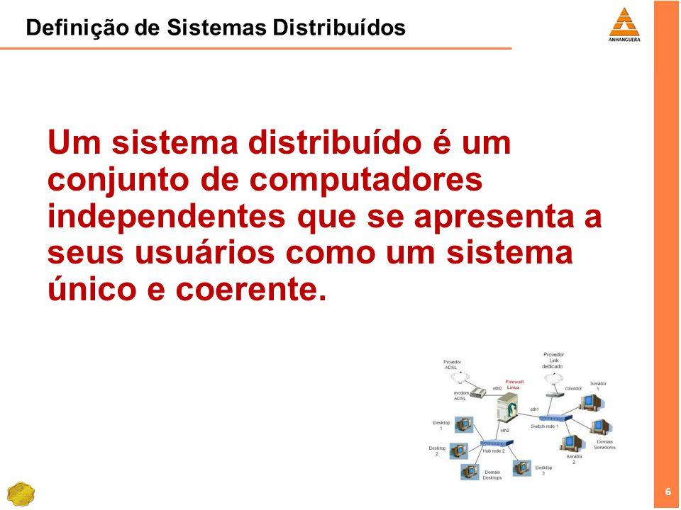 Definição de Sistemas Distribuídos
