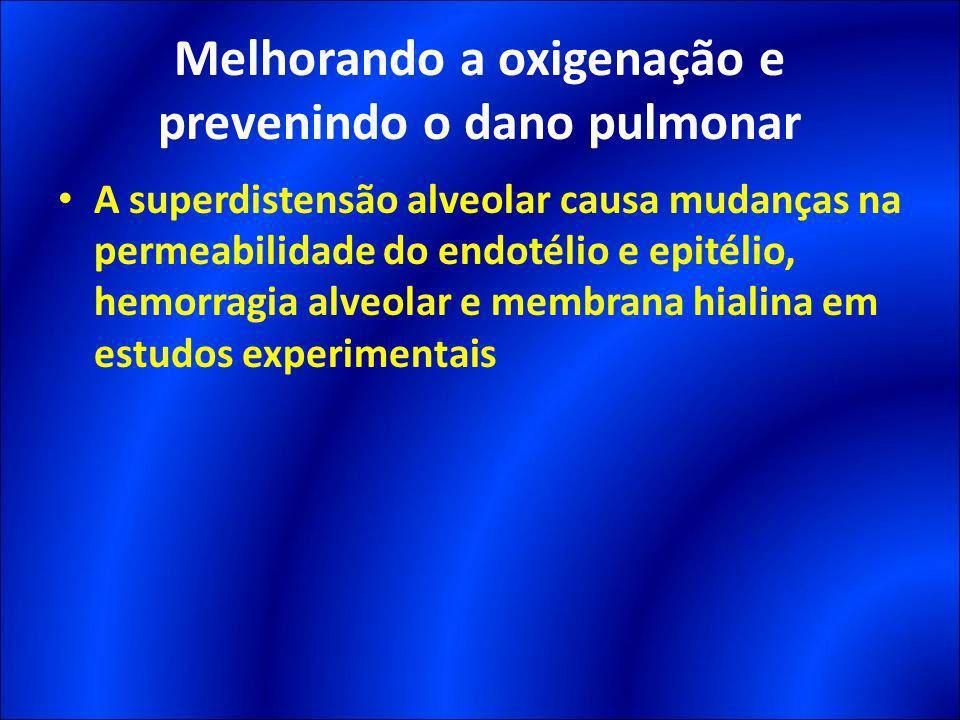 Melhorando a oxigenação e prevenindo o dano pulmonar