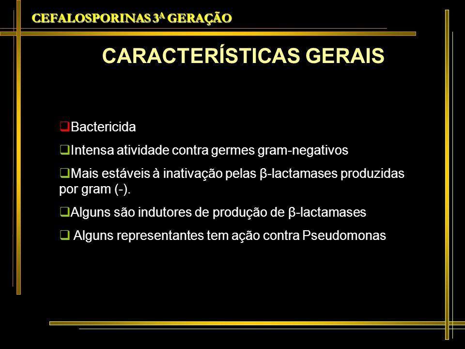 CEFALOSPORINAS 3A GERAÇÃO