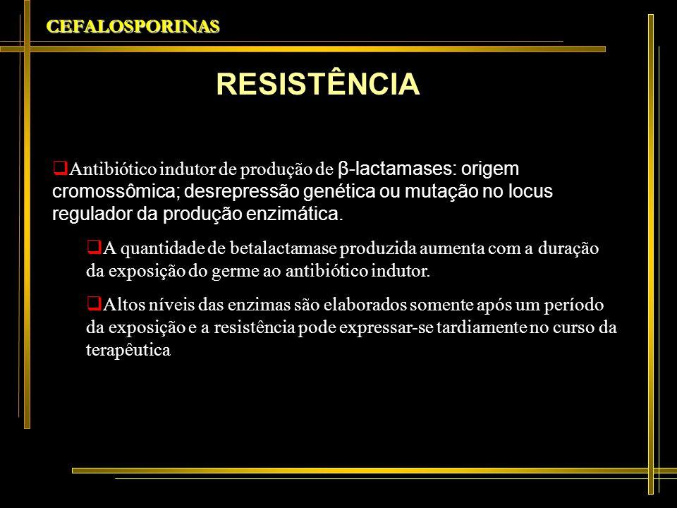 RESISTÊNCIA CEFALOSPORINAS