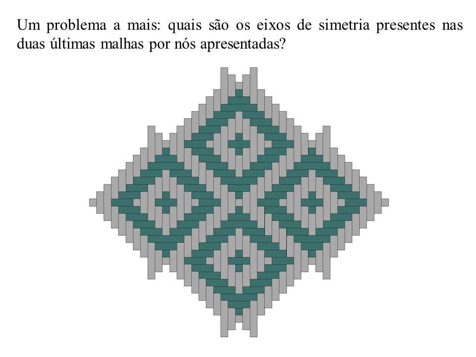 Um problema a mais: quais são os eixos de simetria presentes nas duas últimas malhas por nós apresentadas