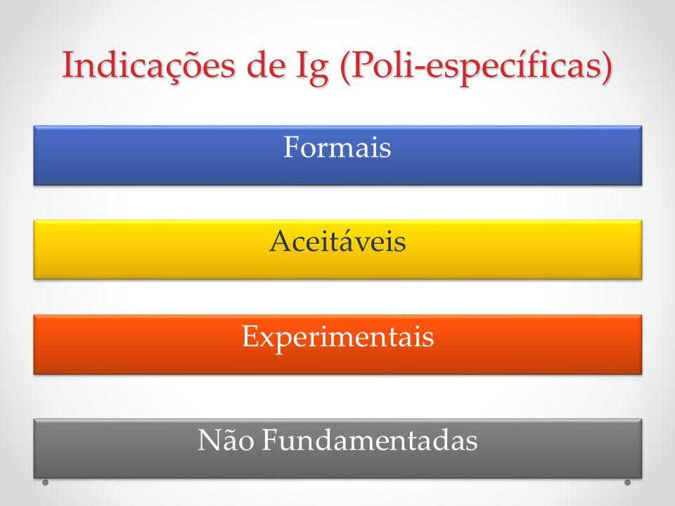 Indicações de Ig (Poli-específicas)