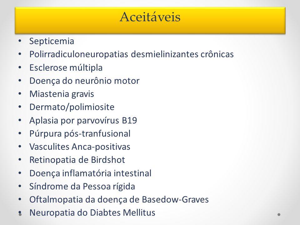 Aceitáveis Septicemia