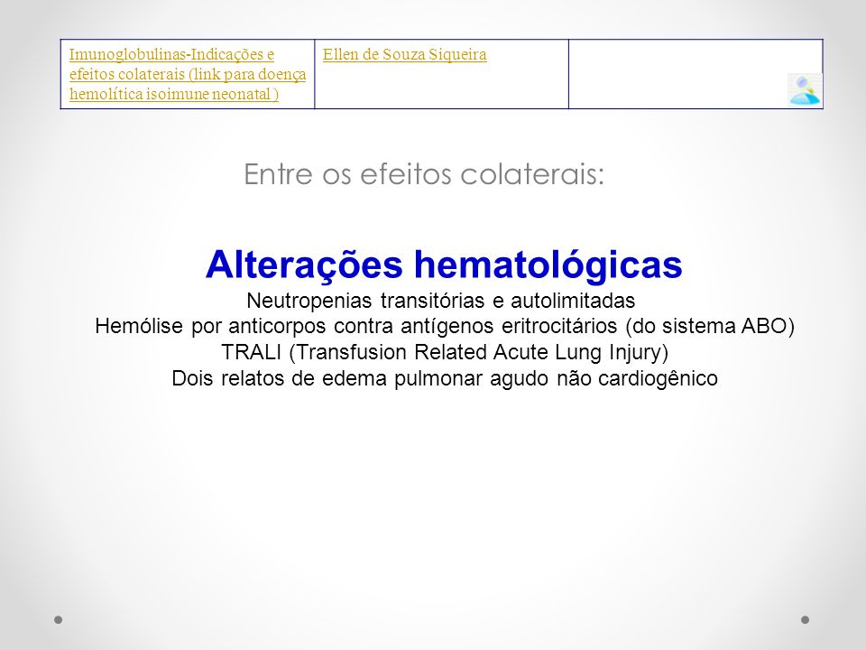 Alterações hematológicas
