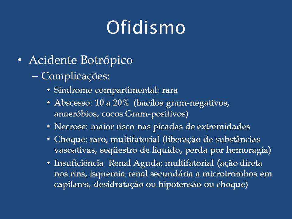 Ofidismo Acidente Botrópico Complicações: