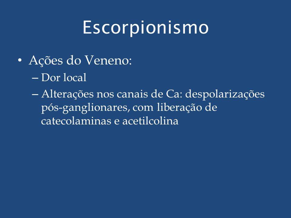 Escorpionismo Ações do Veneno: Dor local