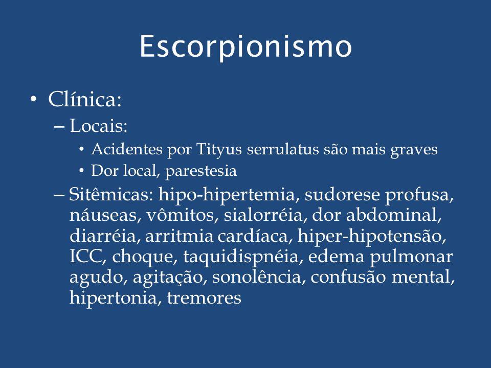 Escorpionismo Clínica: Locais:
