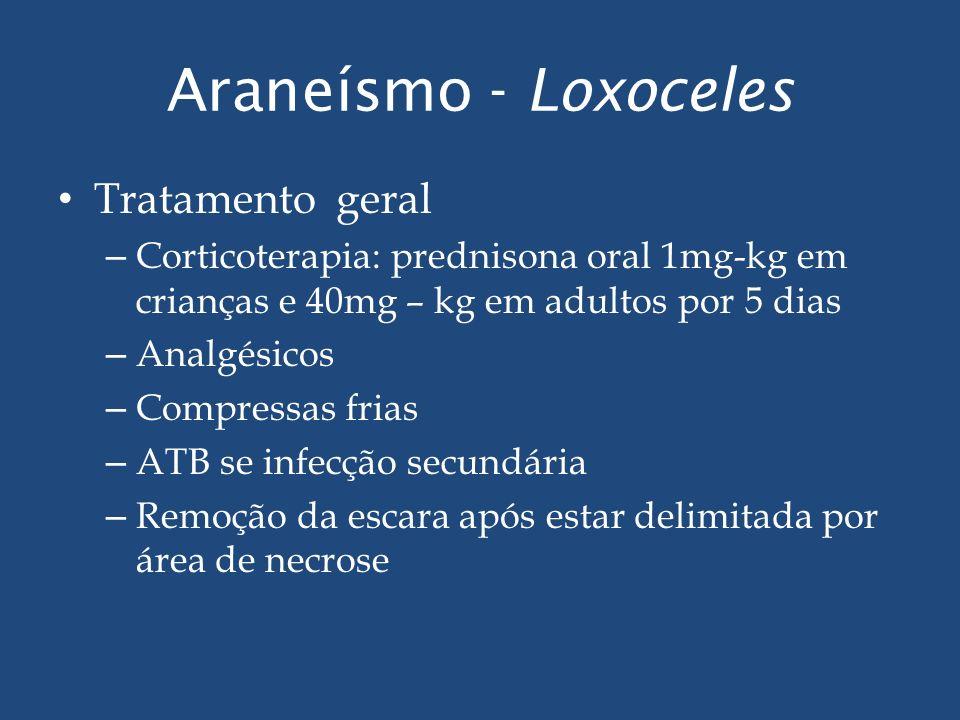 Araneísmo - Loxoceles Tratamento geral
