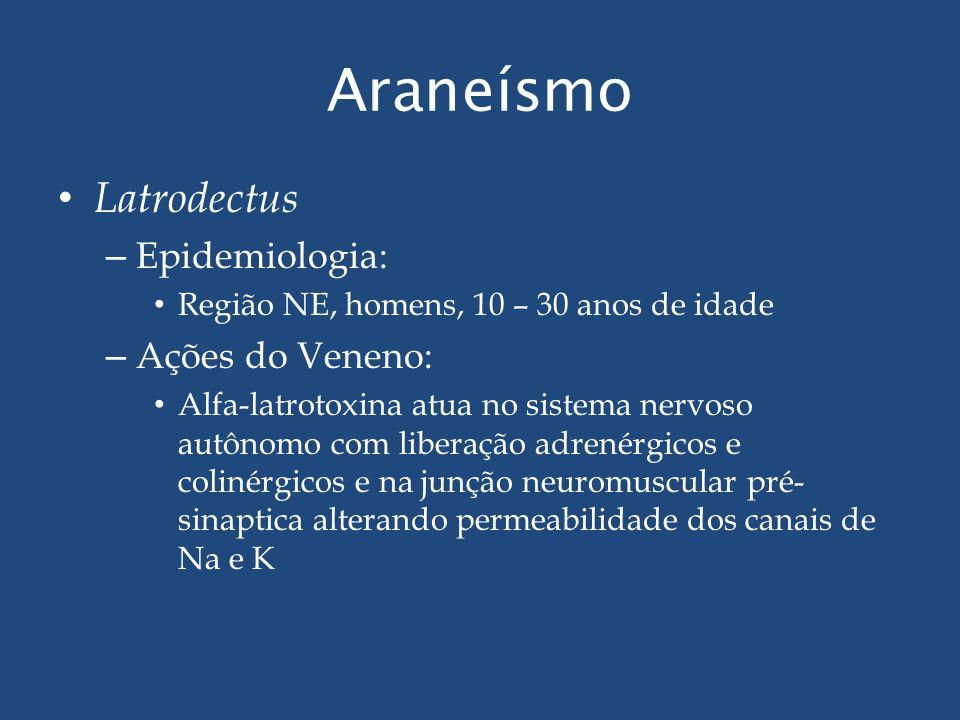Araneísmo Latrodectus Epidemiologia: Ações do Veneno: