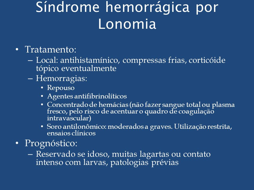 Síndrome hemorrágica por Lonomia
