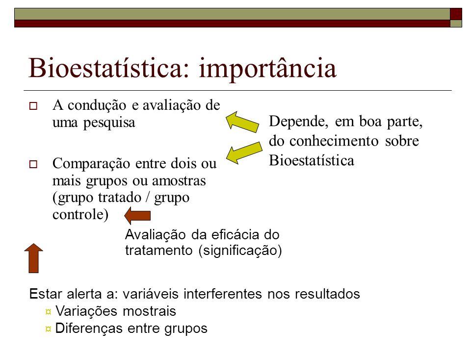 Bioestatística: importância