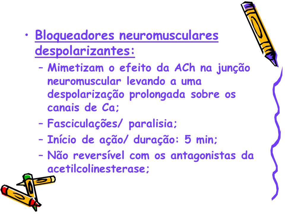Bloqueadores neuromusculares despolarizantes: