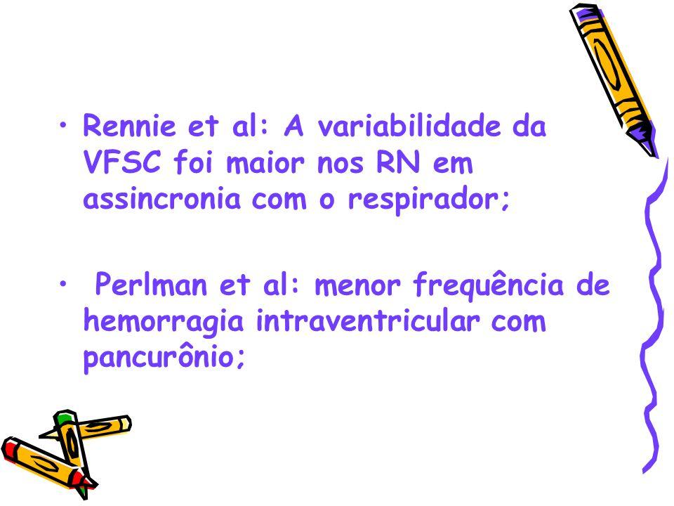 Rennie et al: A variabilidade da VFSC foi maior nos RN em assincronia com o respirador;