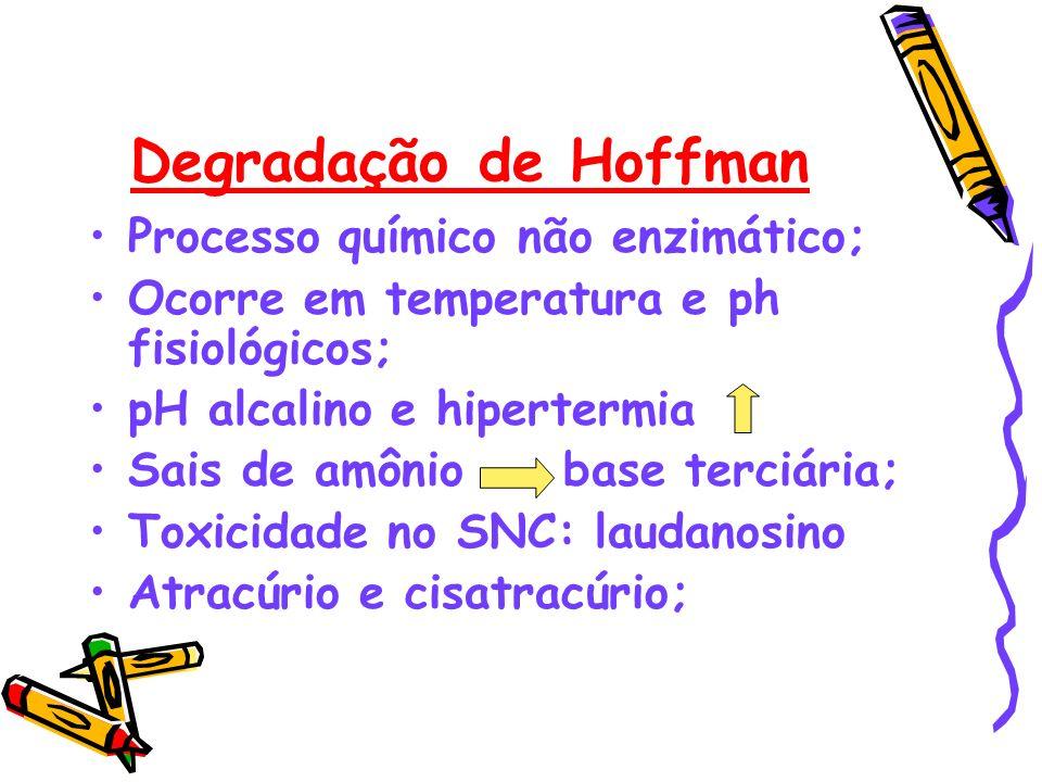 Degradação de Hoffman Processo químico não enzimático;