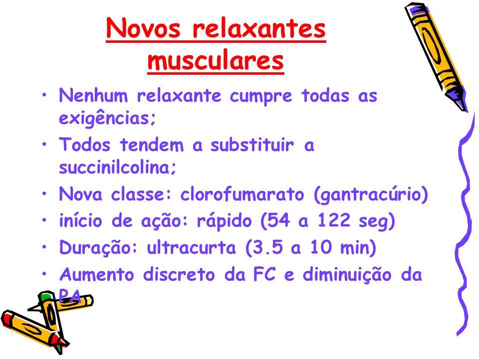 Novos relaxantes musculares