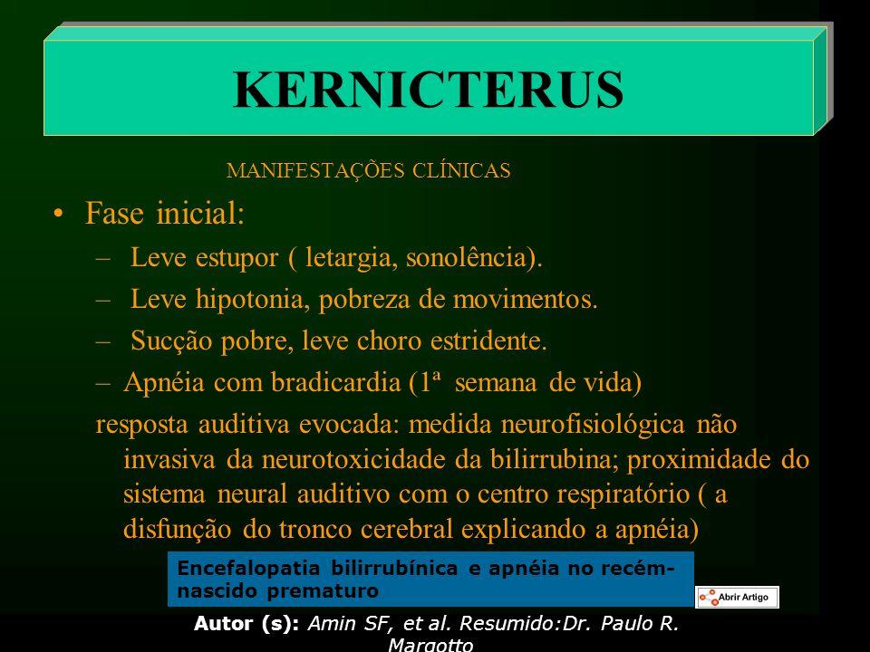 Autor (s): Amin SF, et al. Resumido:Dr. Paulo R. Margotto