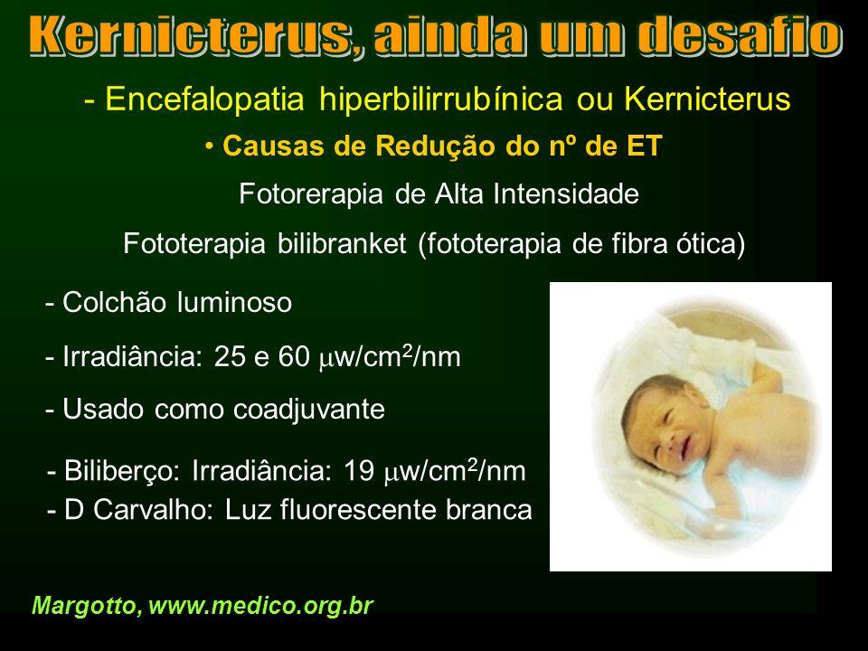 - Encefalopatia hiperbilirrubínica ou Kernicterus