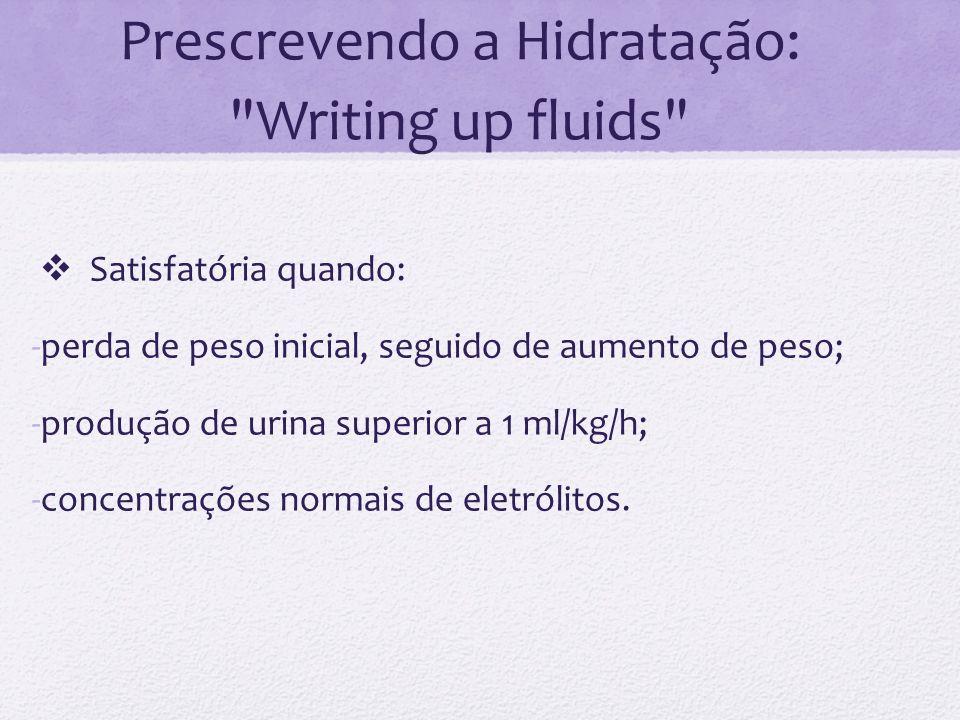 Prescrevendo a Hidratação: Writing up fluids