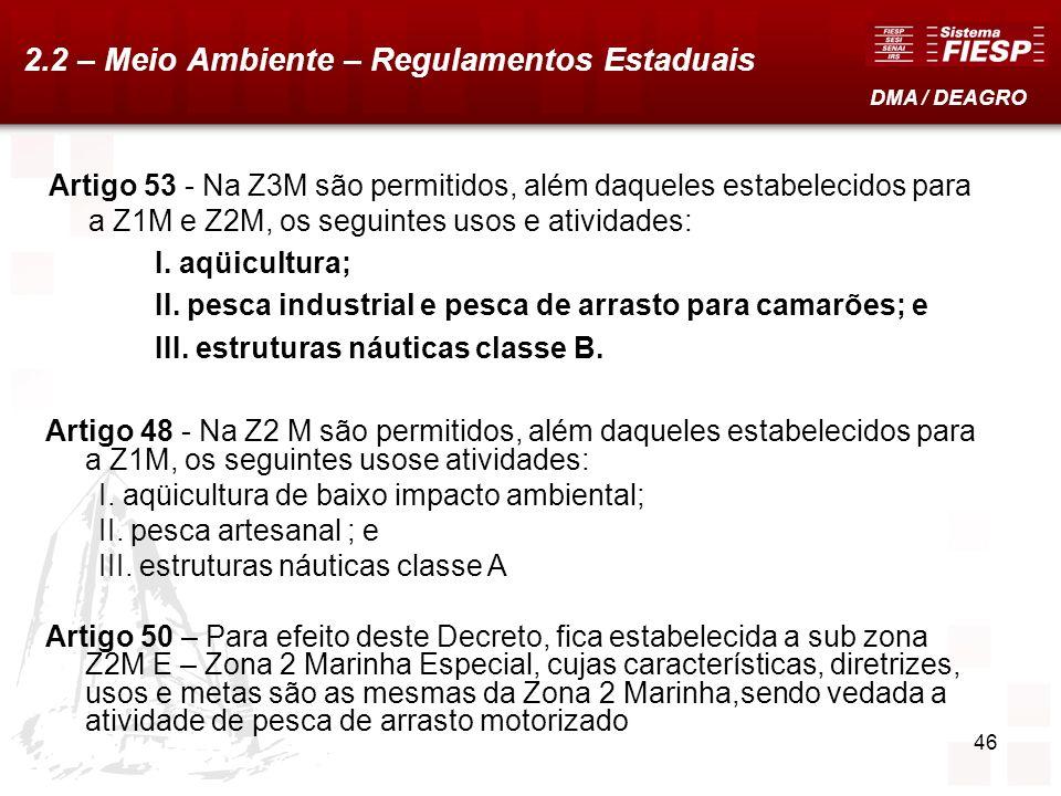 2.2 – Meio Ambiente – Regulamentos Estaduais