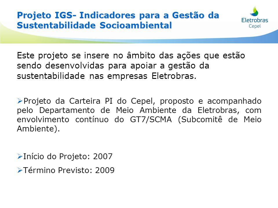 Projeto IGS- Indicadores para a Gestão da Sustentabilidade Socioambiental
