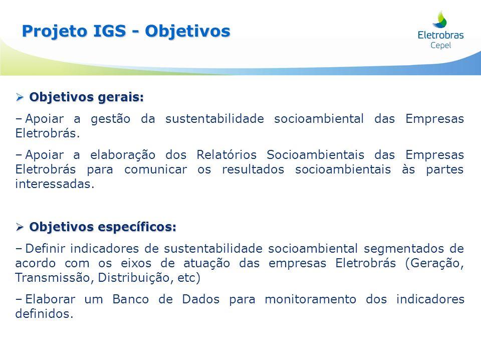 Projeto IGS - Objetivos