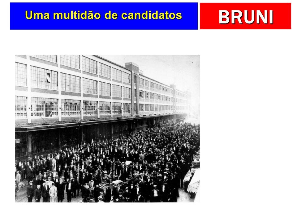 Uma multidão de candidatos