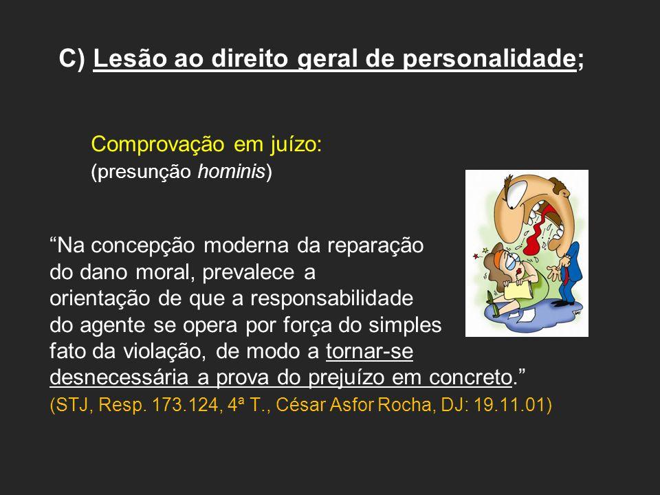 C) Lesão ao direito geral de personalidade;