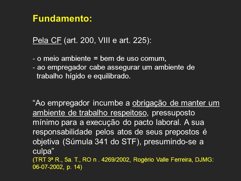 Fundamento: Pela CF (art. 200, VIII e art. 225):