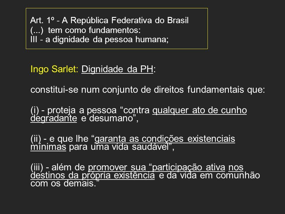 Art. 1º - A República Federativa do Brasil