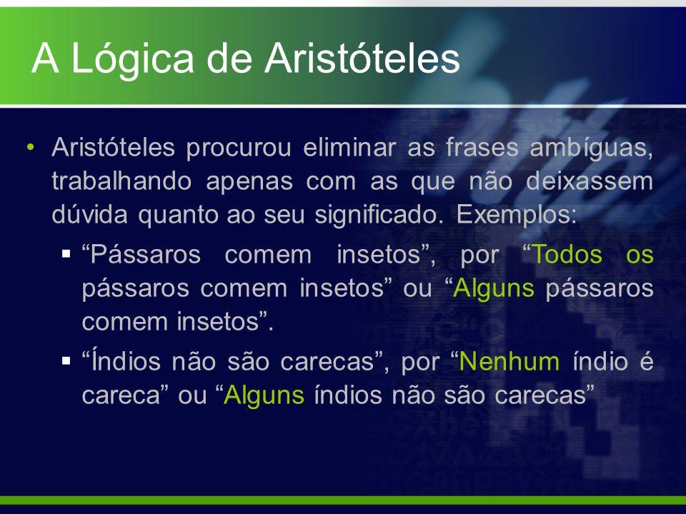 A Lógica de Aristóteles