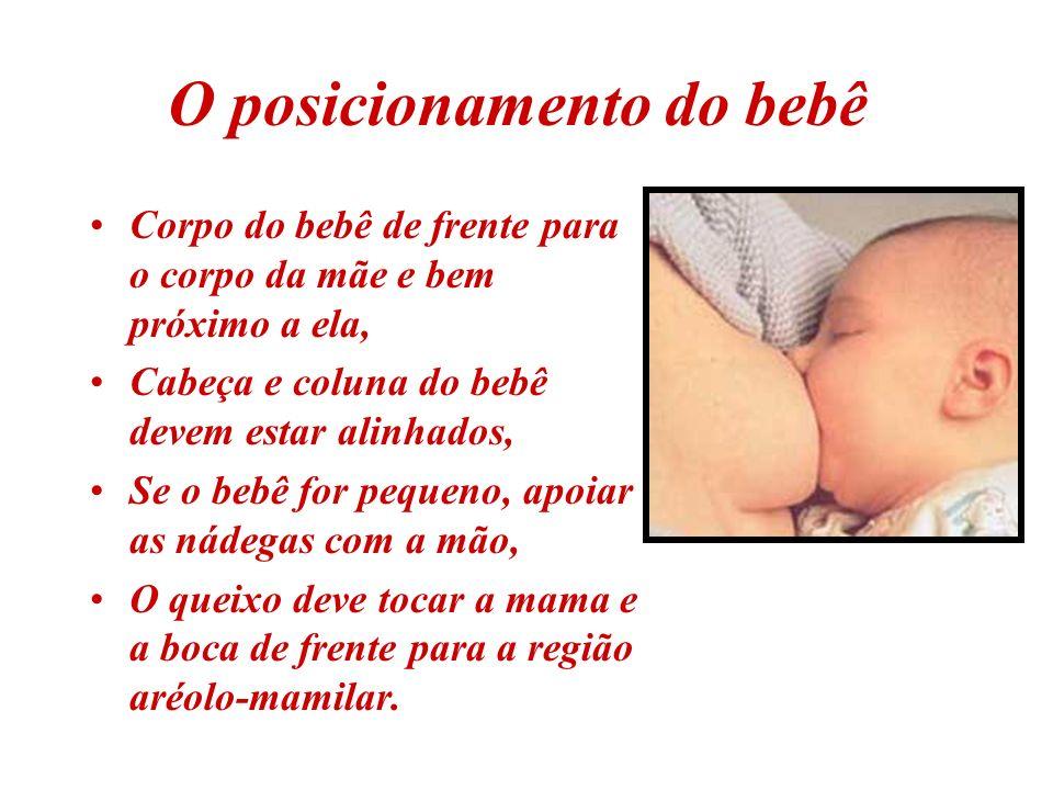 O posicionamento do bebê