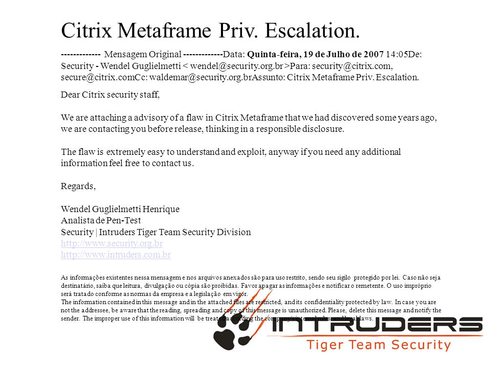 MAC MAX Citrix Metaframe Priv. Escalation.