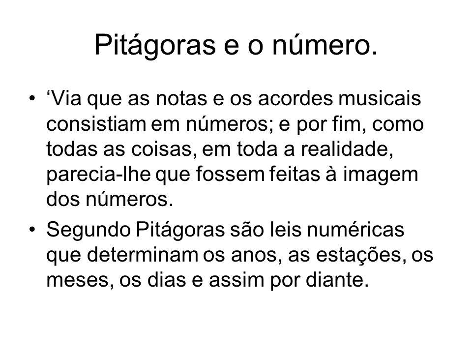 Pitágoras e o número.