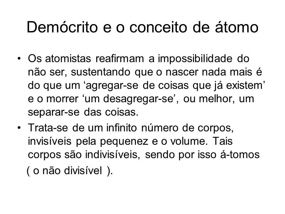 Demócrito e o conceito de átomo