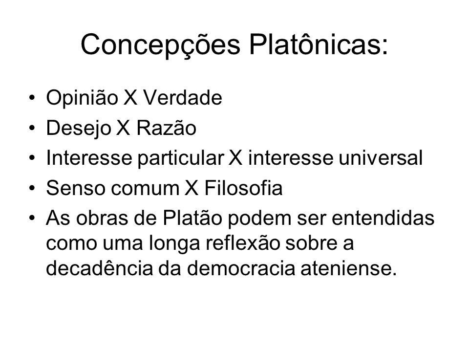 Concepções Platônicas:
