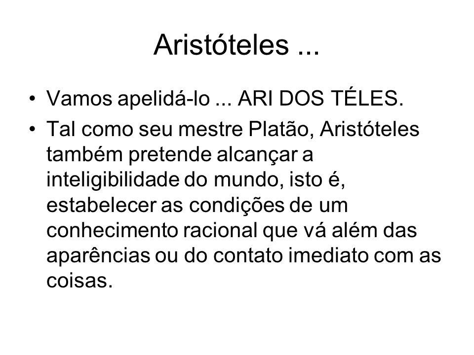 Aristóteles ... Vamos apelidá-lo ... ARI DOS TÉLES.